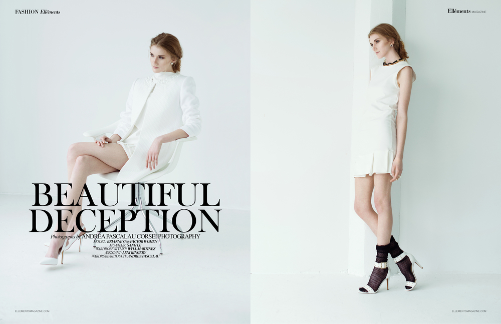 Tres Turtleneck Dress (left) & Cuatro Tube Dress (right) featured in Ellements June 2015 issue