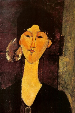 Portrait of Beatrice Hastings, Modigliani, 1915