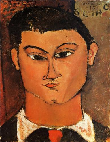 Portrait of Moise Kisling, Modigliani, 1915