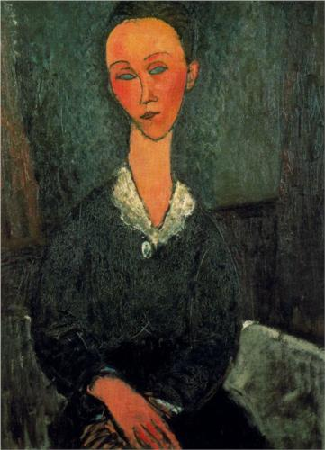 A Woman with a White Collar, Modigliani, 1916