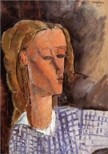Portrait of Beatrice Hastings, Modigliani, 1916
