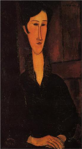Portrait of Madame Zborowski, Modigliani, 1917