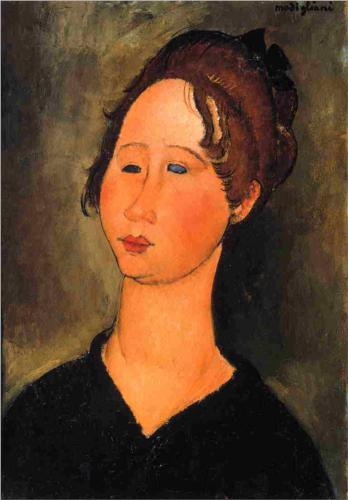 Burgundian Woman, Modigliani, 1918