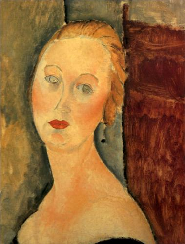 Germaine Survage with Earrings, Modigliani, 1918