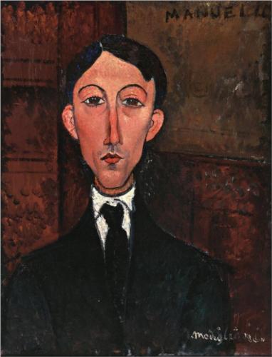 Bust of Manuel Humbert, Modigliani, 1918