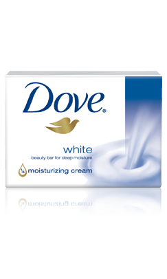 A small amount of Dove soap in the morning and at night. $1.50, available in drugstores