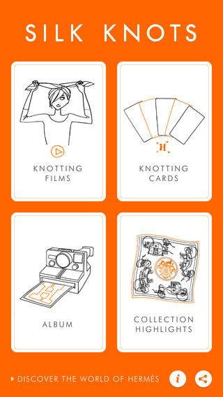 Click to download the Hermes Silk Knots app from iTunes.