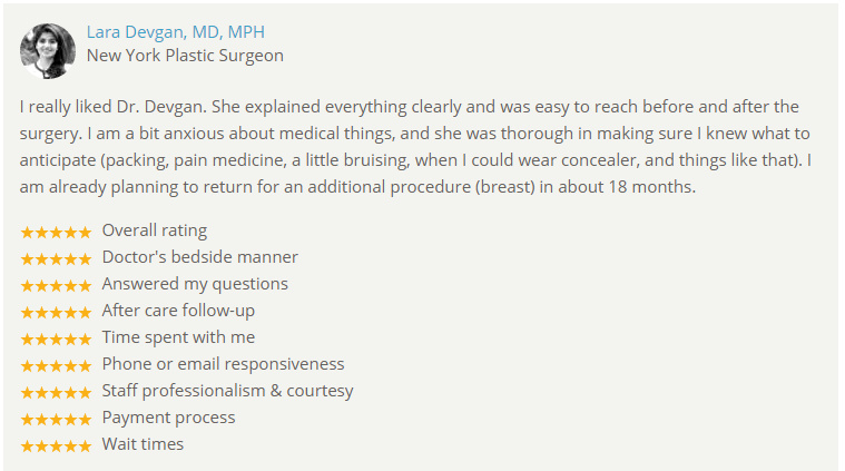 Verified patient review from RealSelf.com