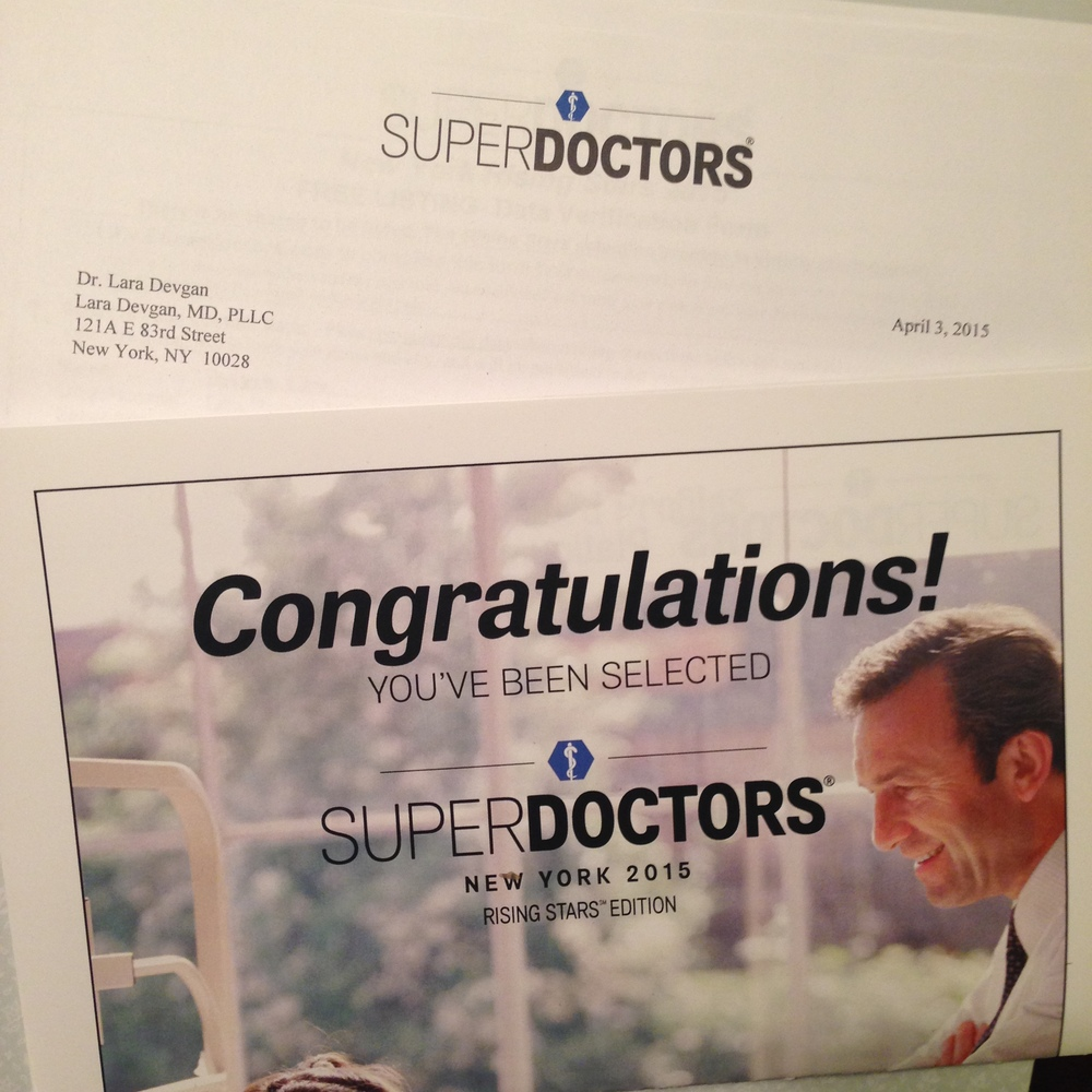 New York Times SuperDoctors invitation