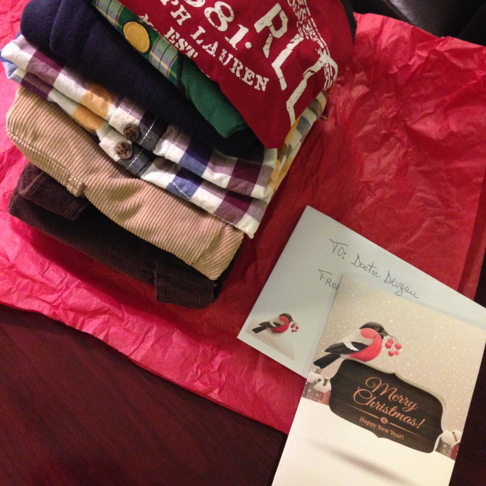 Clothing gift from a breast reconstruction patient