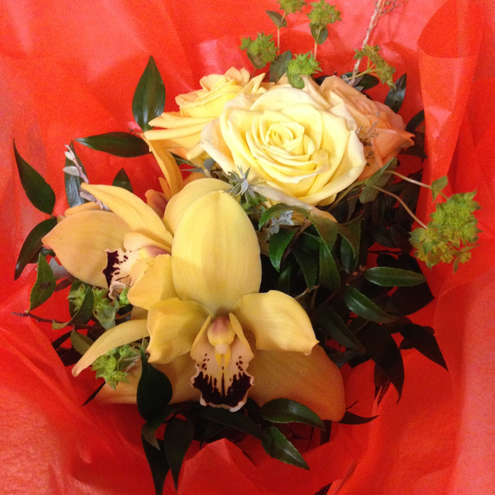 Flowers from a breast augmentation patient