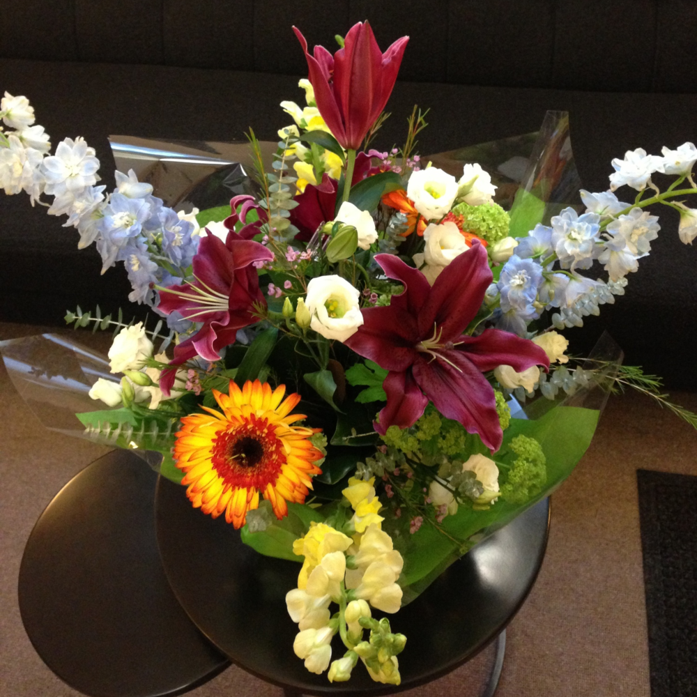 Flowers from a reconstructive surgery patient