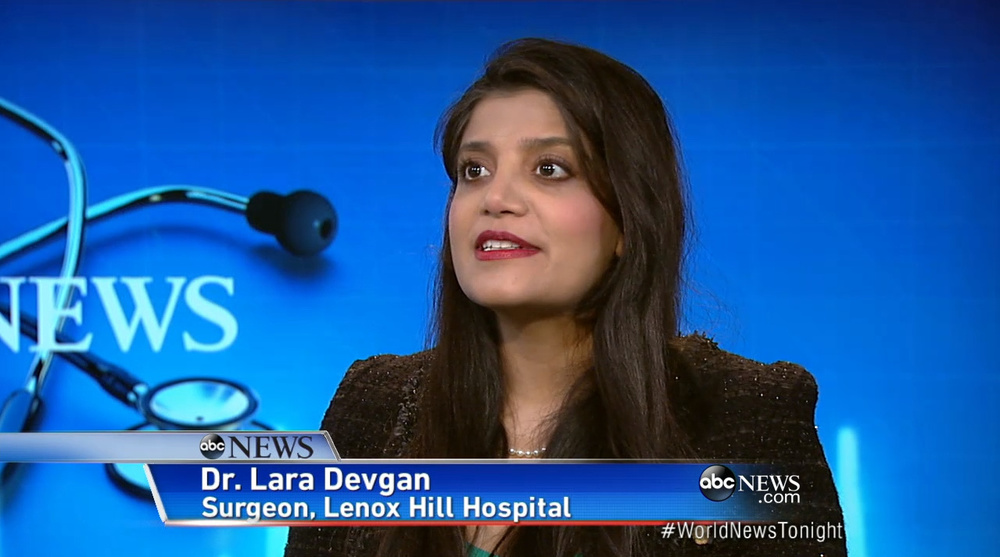 Click to view Dr. Devgan's appearance on ABC World News Tonight
