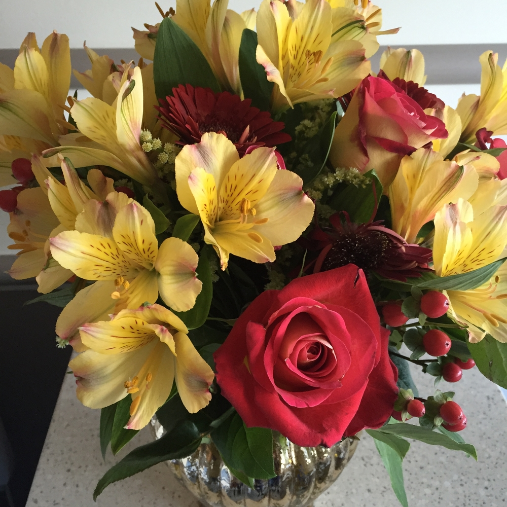 Flowers from a botox, rhinoplasty, breast augmentation patient