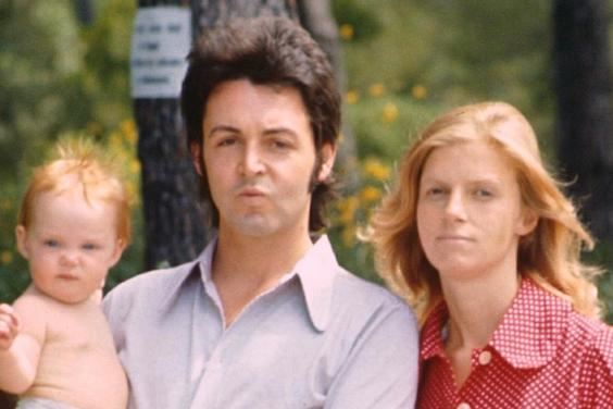 Stella McCartney pictured as a child with father, Paul, and mother, Linda, who died from breast cancer. Image credit Standard UK.