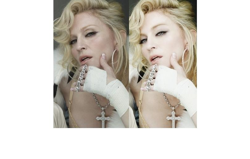 Madonna before and after photoshop