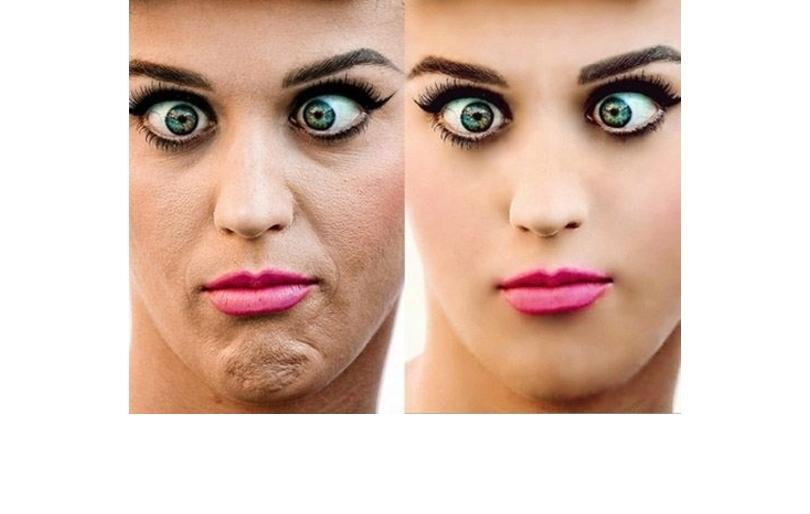 Katy Perry before and after photoshop