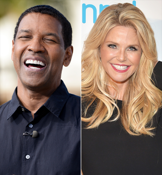 Denzel Washington and Christie Brinkley, image credit Getty Images