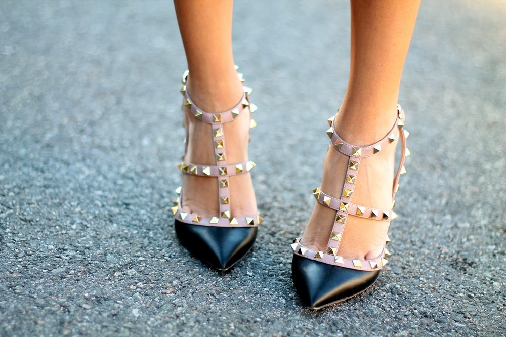 Valentino Rockstud Heels, image credit GlitterInc