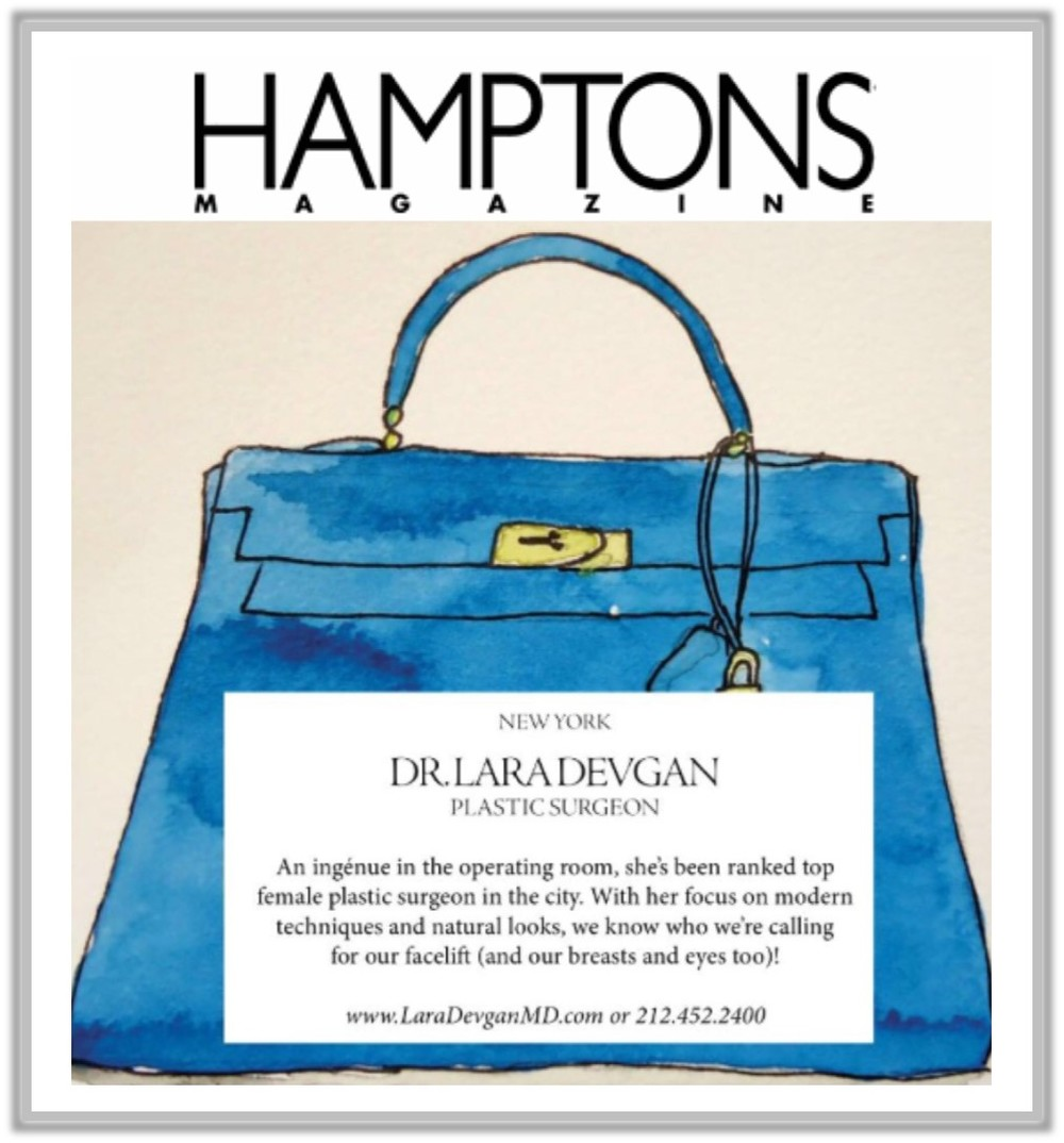Dr. Devgan was featured in Hamptons Magazine as a notable New York plastic surgeon. Click to enlarge.