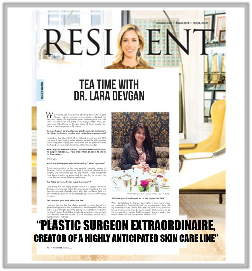 Dr. Devgan interviewed in Resident Magazine. Click to enlarge.