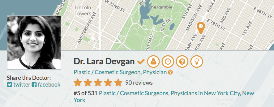 Dr. Devgan is an acclaimed female plastic surgeon who is trusted by her patients