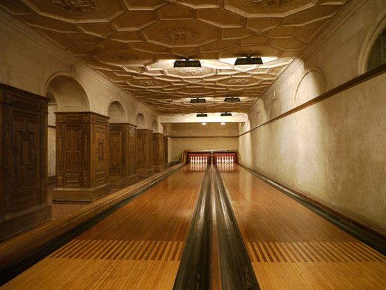 The Frick bowling alley; constructed in 1913-1914.