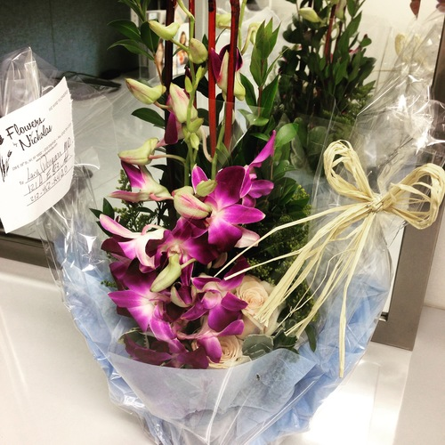 Flowers from a cosmetic patient