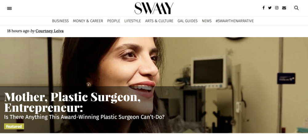 Dr. Devgan featured on SWAAY