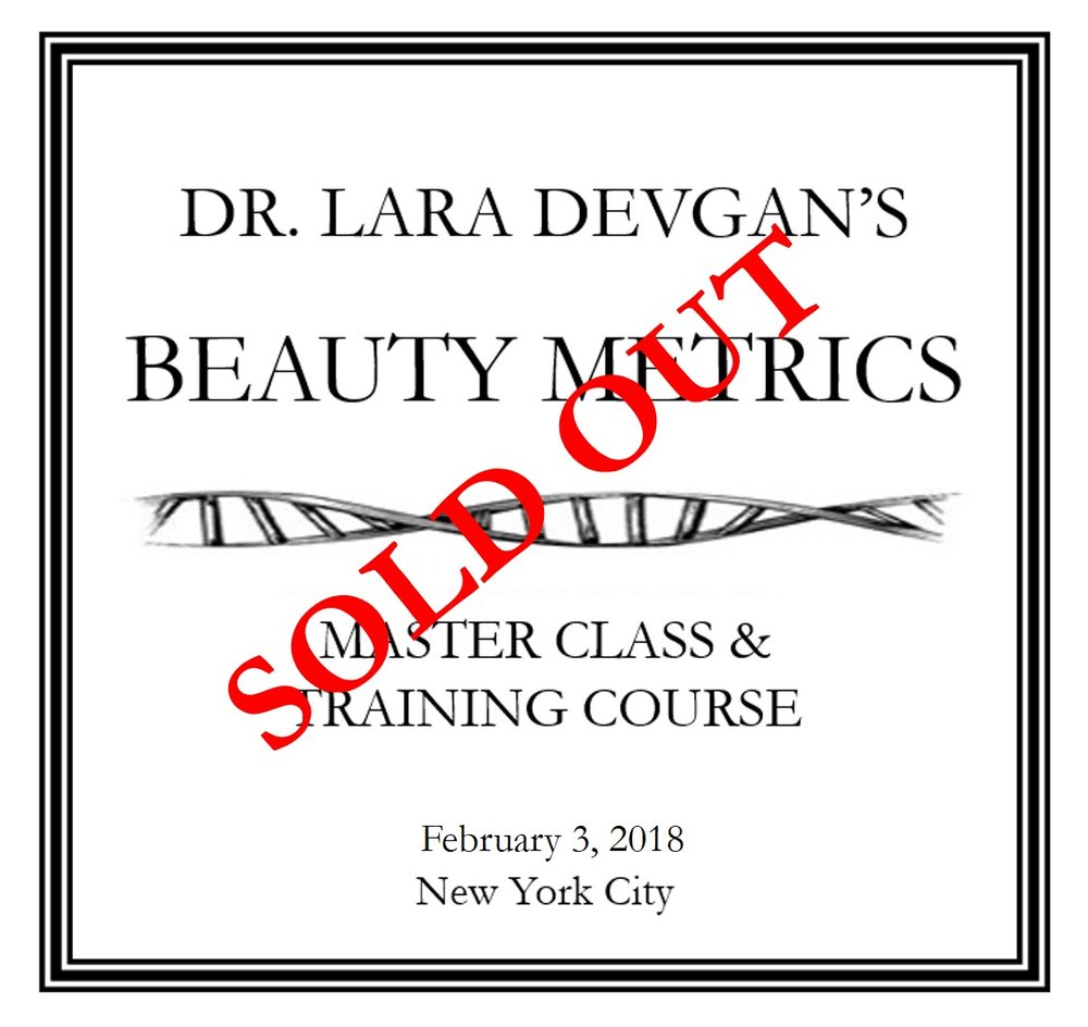 """THE METRICS OF BEAUTY"" CLICK FOR COURSE SYLLABUS FOR FEBRUARY 3, 2018"