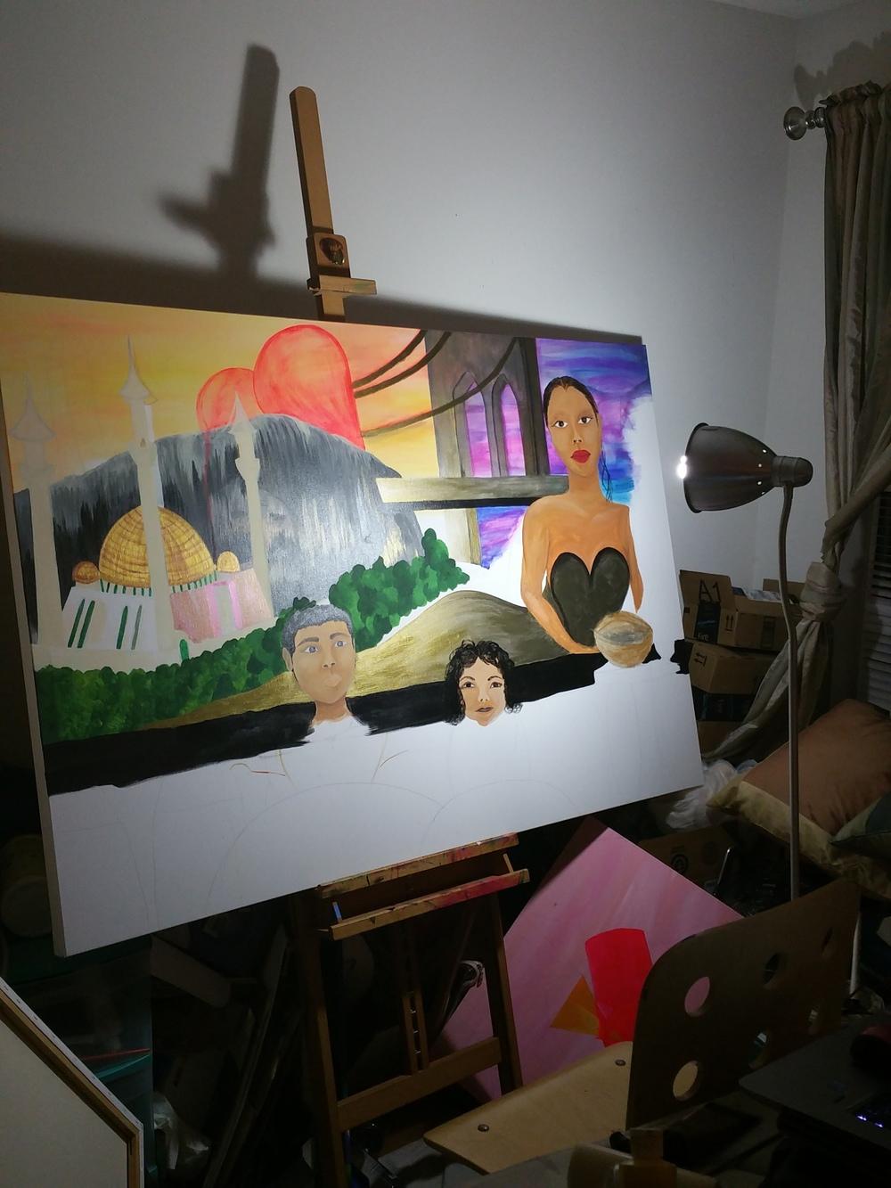 Late progress shot of my sade inspired work