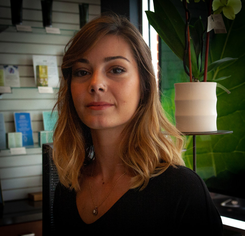 New Talent StylistJaime - Jaime comes from a family of stylists and artists. Her father was a barber and her skill development in crisp men's cuts began there. Now as an Aveda artist she is excited to play with color and form for both men and women.