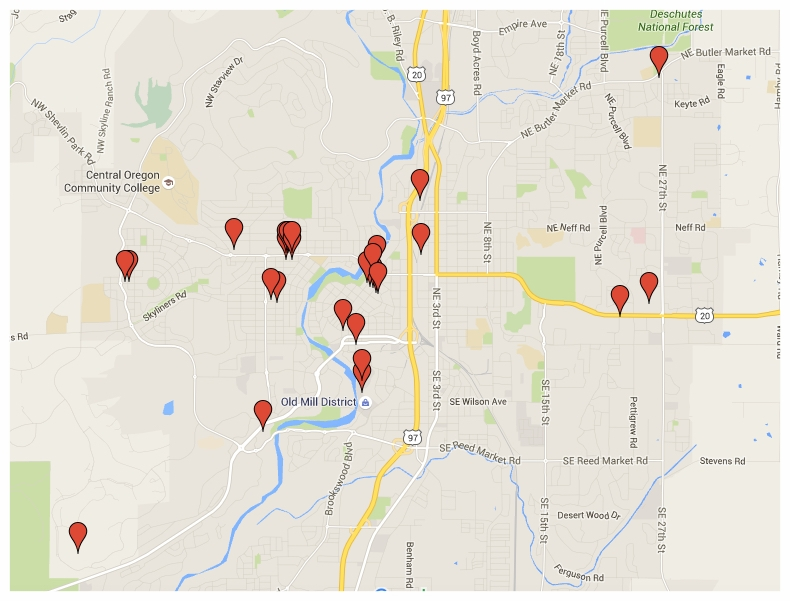 Click on map image to open up Google Map showing where to buy Metolius tea.