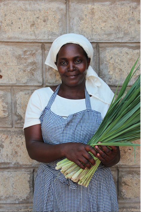 Isabella, a lemongrass farmer in Kena