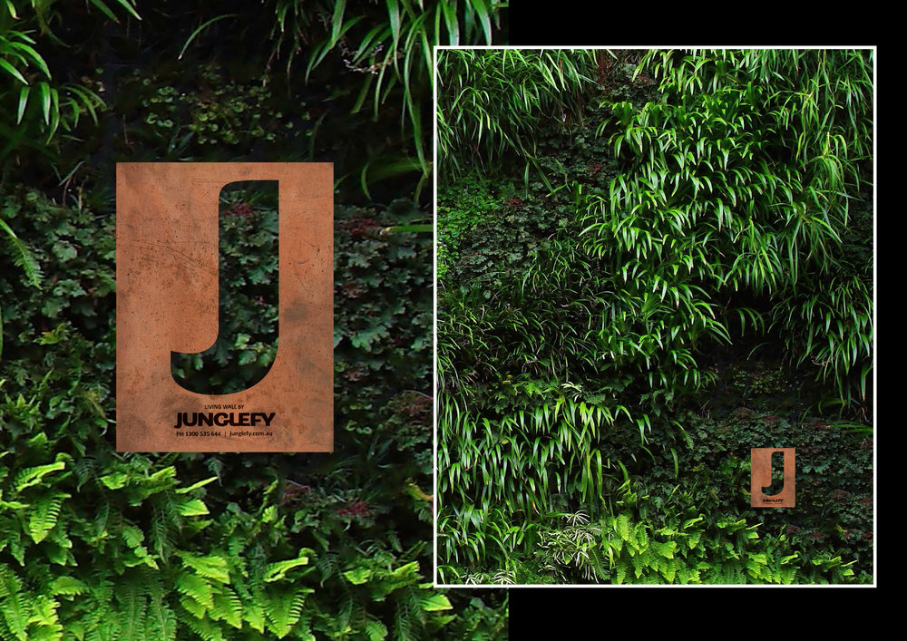 Permanent Signage design for Junglefy Living Walls