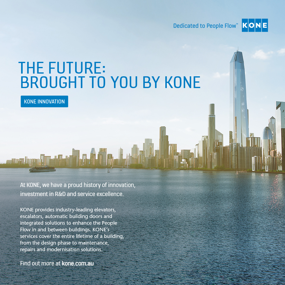 Magazine Ad for KONE