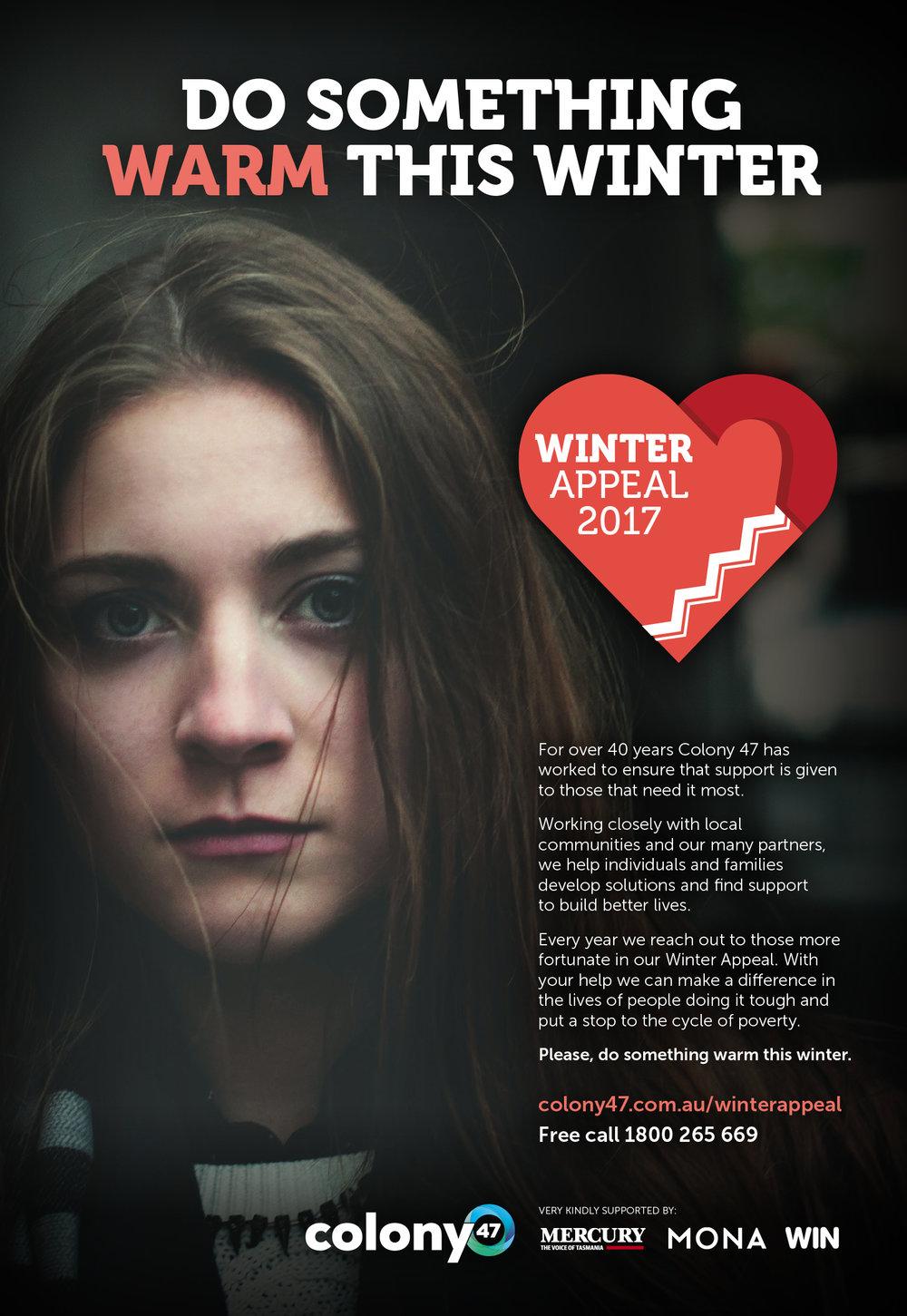 Press Ad - Colony47 Winter Appeal