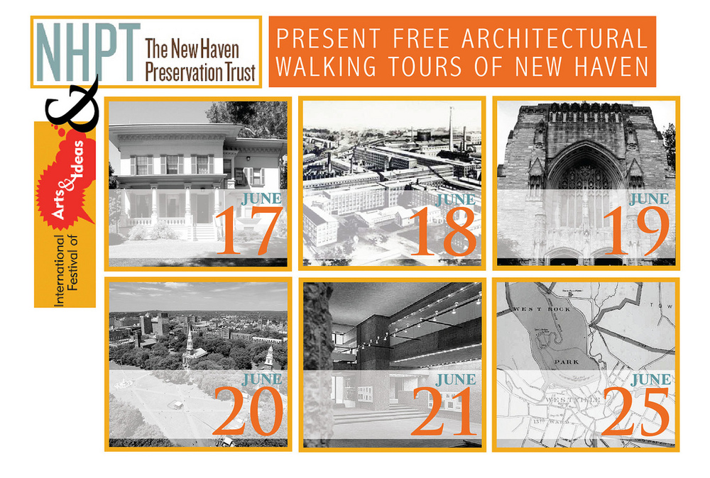 Walking Tour Postcard for the New Haven Preservation Trust