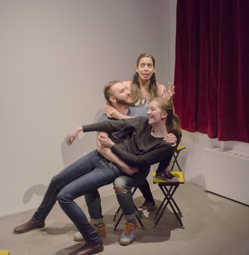 Improv performance by Peter Valenti, et al., Saturday, February 14, 2015, photo courtesy of Emma Benschop