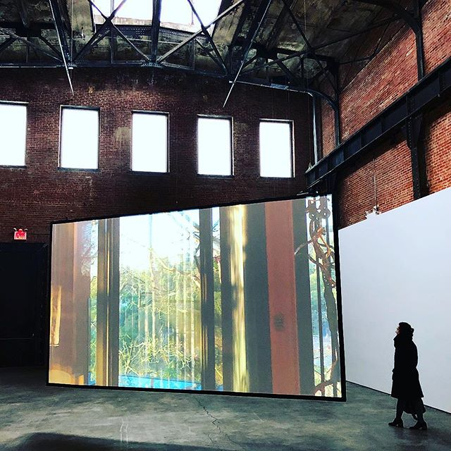 Gorgeous Carissa Rodriguez show up at #SculptureCenter right now. Of course everything looks great in that space... #contemporaryart #videoart