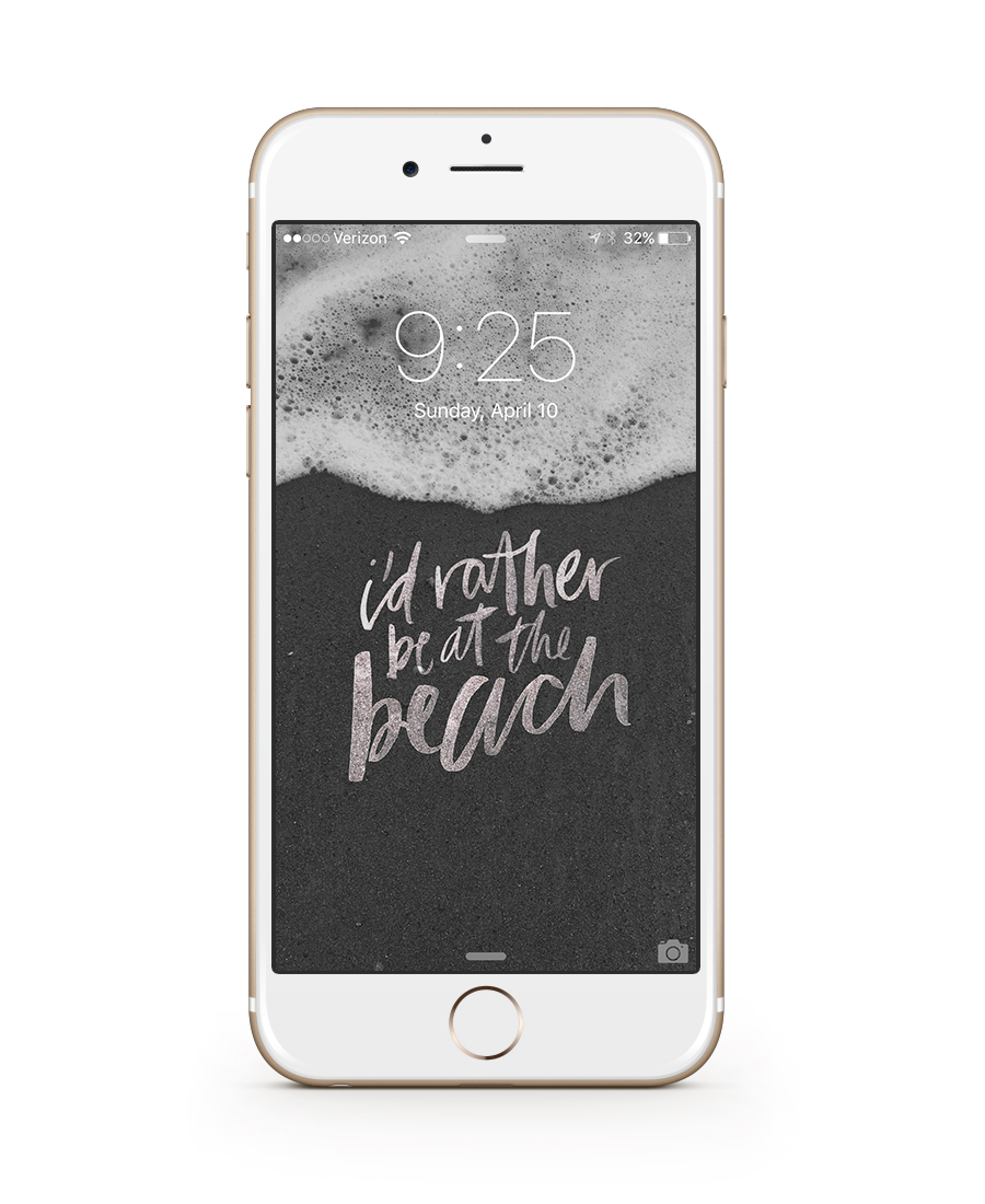 i'd rather be at the beach wallpaper | honestly, b.