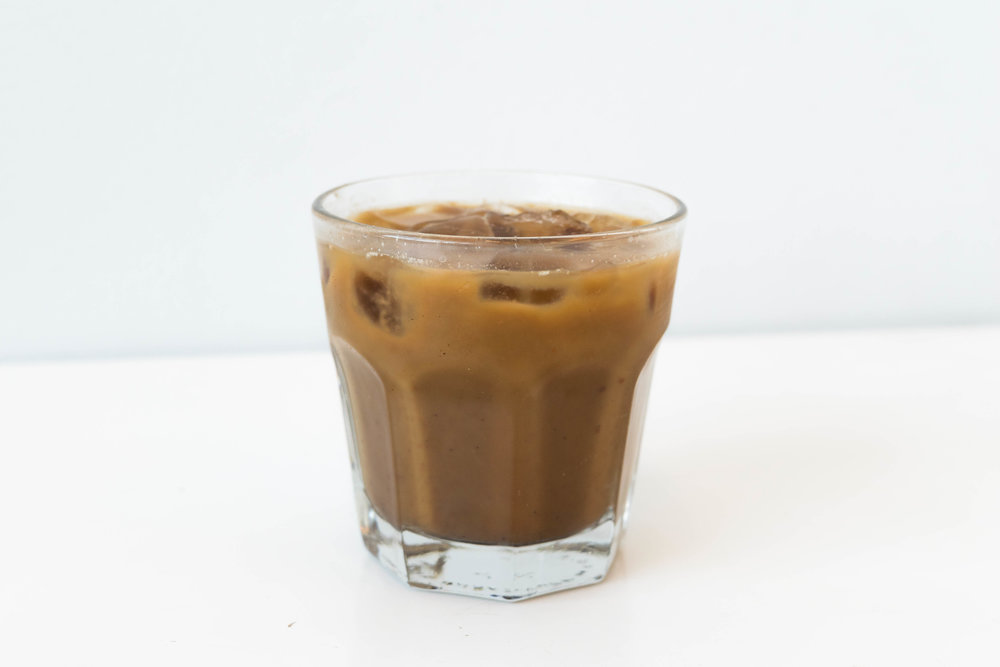 The first drink is sweet with a hint of nuttiness and suggested by our Ann Arbor location gelatista, Katie Beth. The Iced Nutella Latte is cold milk (or milk alternative), espresso and Nutella. It is good if you like sweet espresso beverages and perfect for our Nutella enthusiasts!