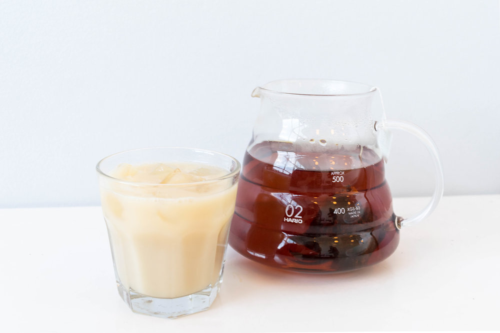 My own suggestion is an Earl Grey Tea over ice with honey and soy milk. It is a really refreshing creamy beverage with a very unique flavor. I drink it every day, even in the winter. It is a good option for our non-coffee drinkers out there. If Earl Grey isn't the tea for you, try any of our available hot teas over ice.