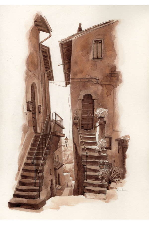 Fred Lynch - Twin Stairs in Vitorchiano.jpg
