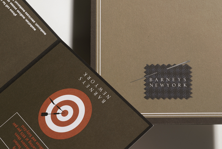 BARNEYS NEW YORK: design of promotional materials for made to measure