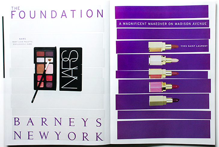 BARNEYS NEW YORK: logo design and advertising campaign for the foundation cosmetics department at the madison avenue store
