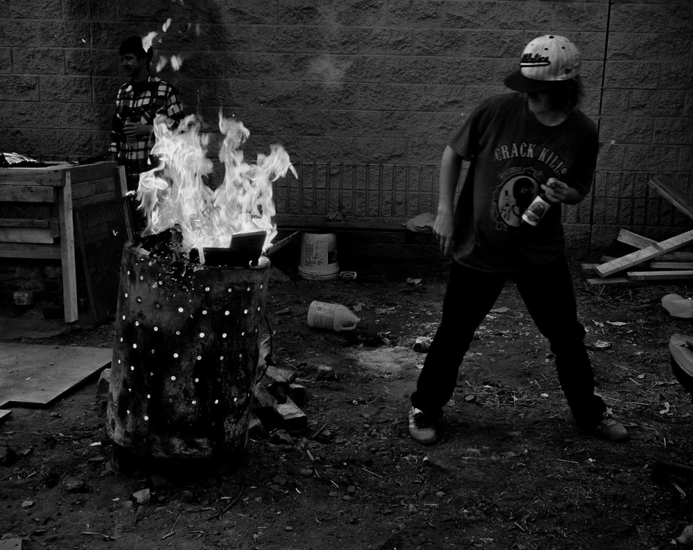 The fire and barbeques that are part of the skating brotherhood are long gone.