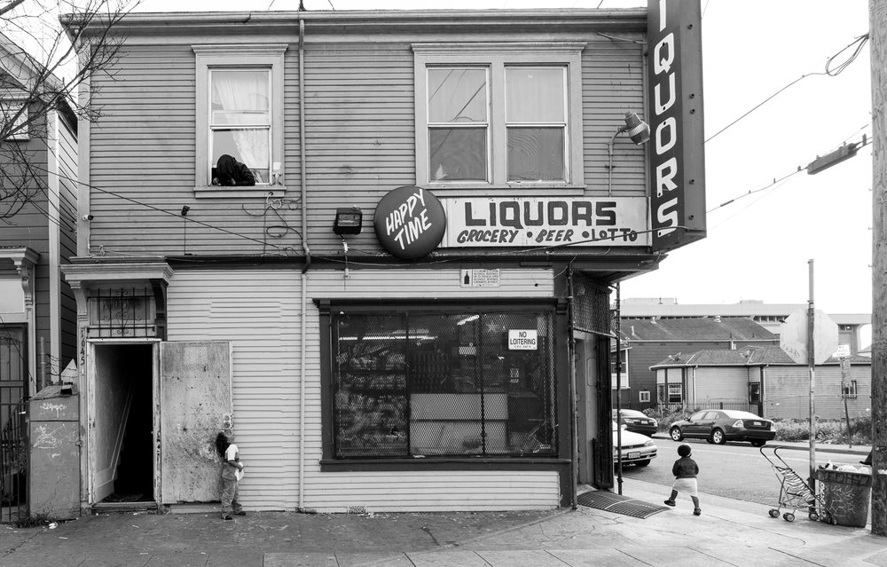 A Yemani family lives above the liquor store; this is as close as I could come to photographing any of the women.