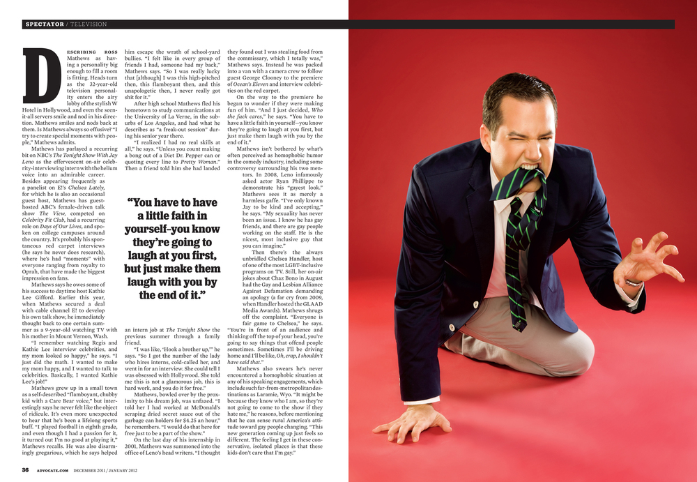 Ross Mathews Photographed by Bradford Rogne