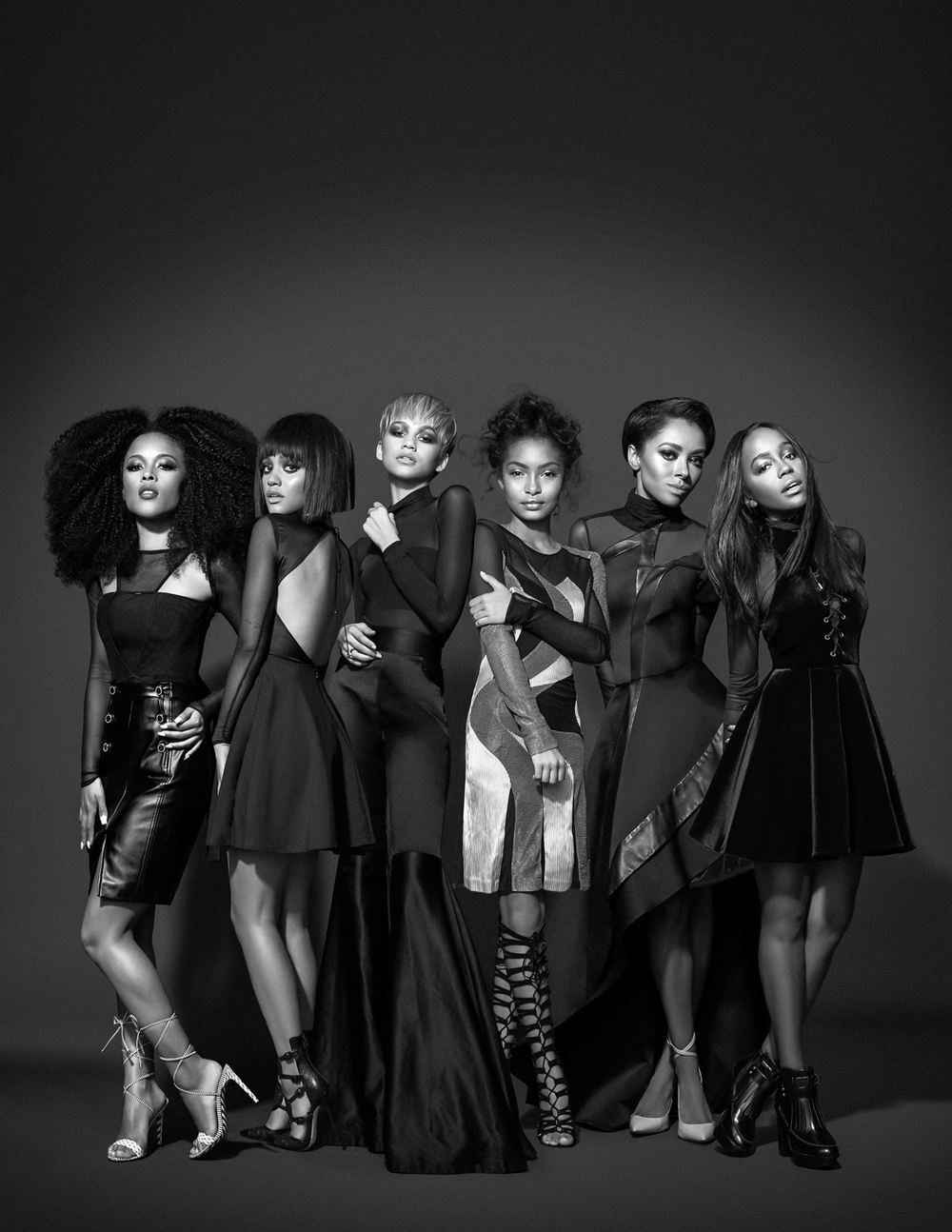 #GenerationNoir for Kode Magazine Photographed by Bradford Rogne | Featuring Serayah, Kiersey Clemons, Zendaya, Yara Shahid, Kat Graham and Aja Naomi King